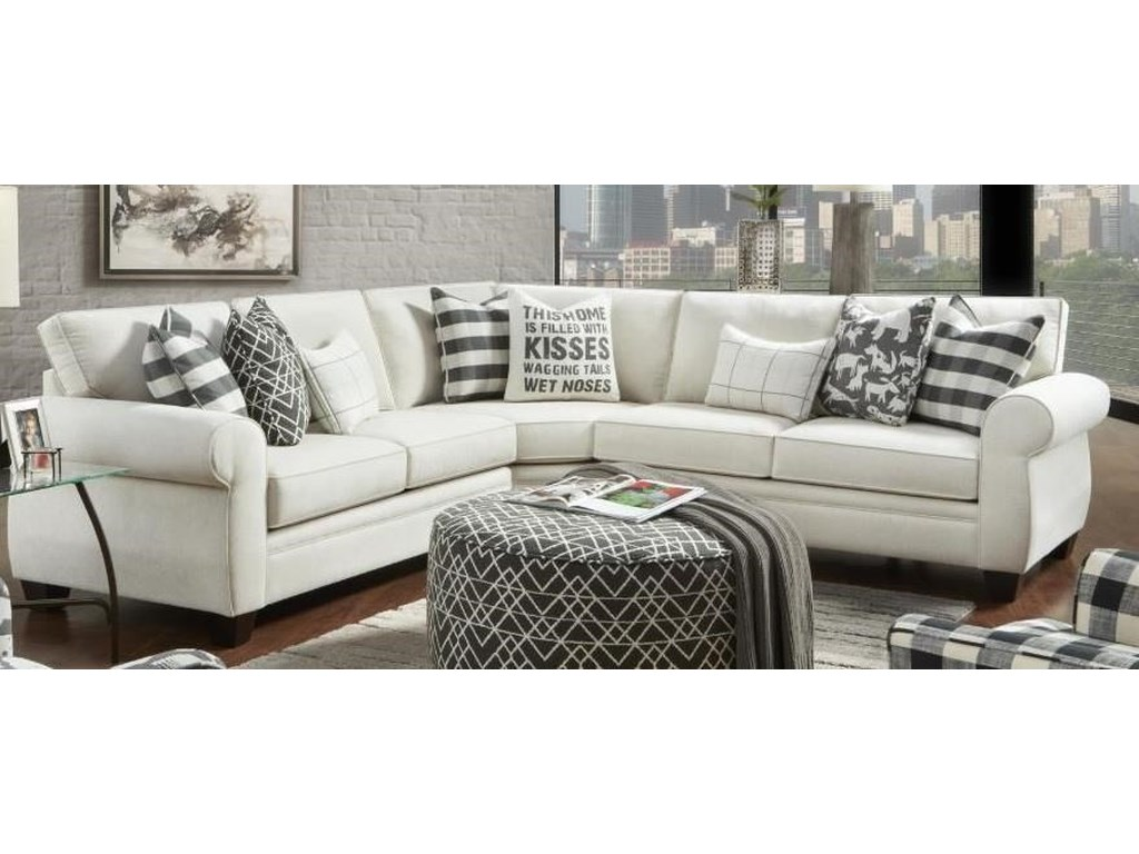 Heidi Sectional Sofa With Accent Pillows By Fusion Furniture At Morris Home
