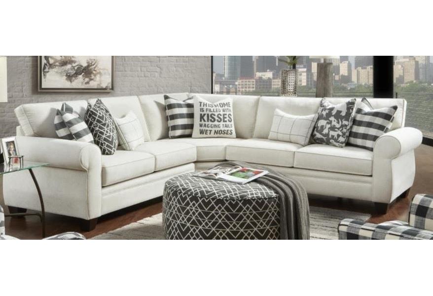 Fusion Furniture Heidi Sectional Sofa