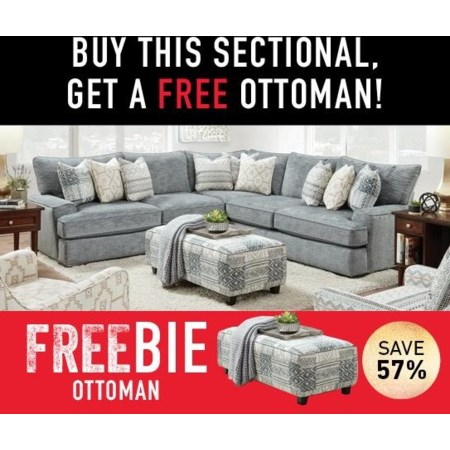 Indra Sectional Sofa with Freebie!