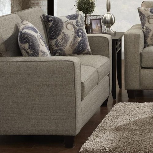 Fusion Furniture 3560 Contemporary Loveseat With Track