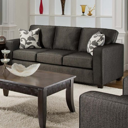 Fusion Furniture 3560 Casual Three Cushion Sofa Sleeper