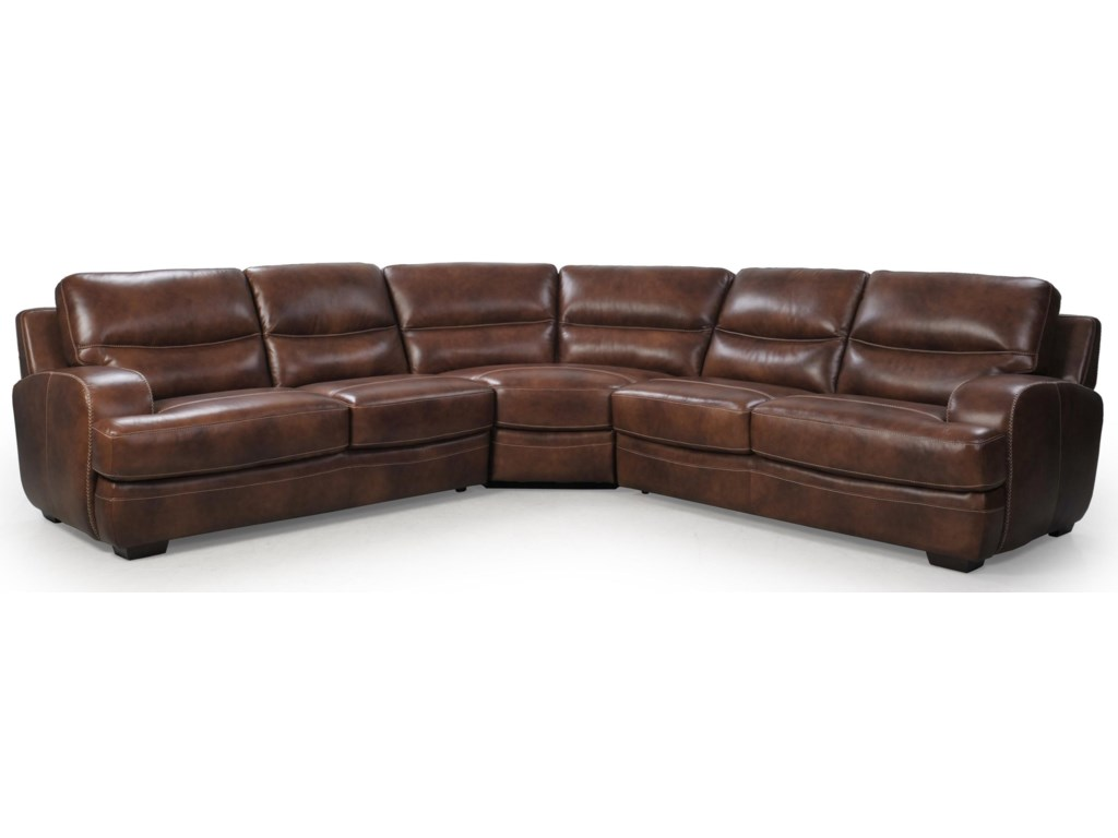 Futura Leather 10015Sectional Sofa