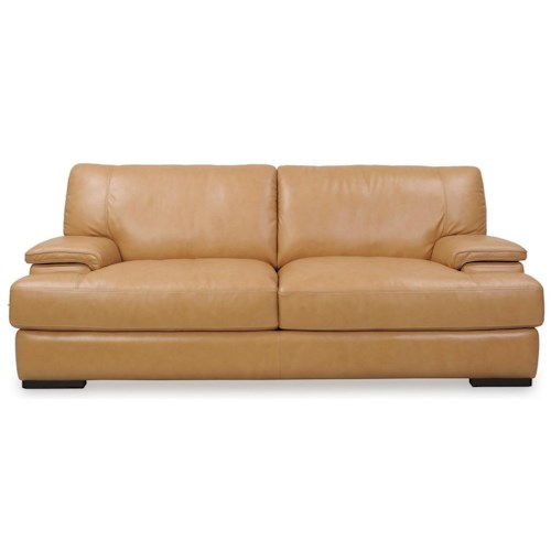 Futura Leather 10027 Casual Sofa with Wide Seat Cushions