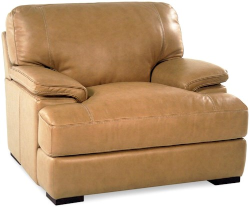 Loft Leather Nassau Casual Leather Chair with Pillow Arms