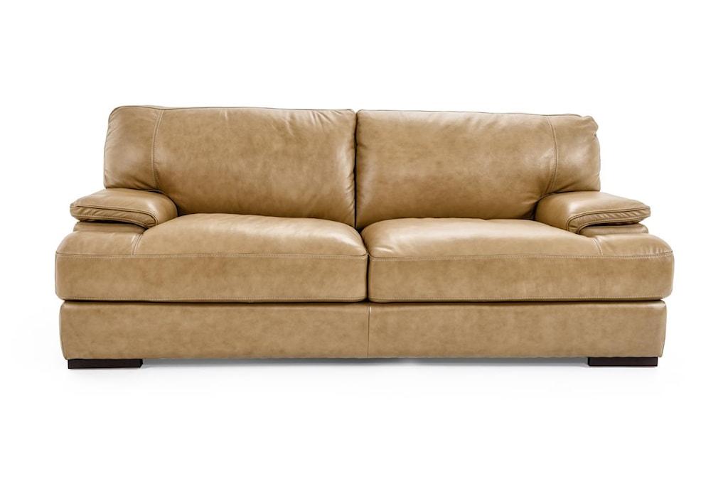 Futura Leather 10027 Casual Sofa With Wide Seat Cushions - Baer's Furniture  - Sofas