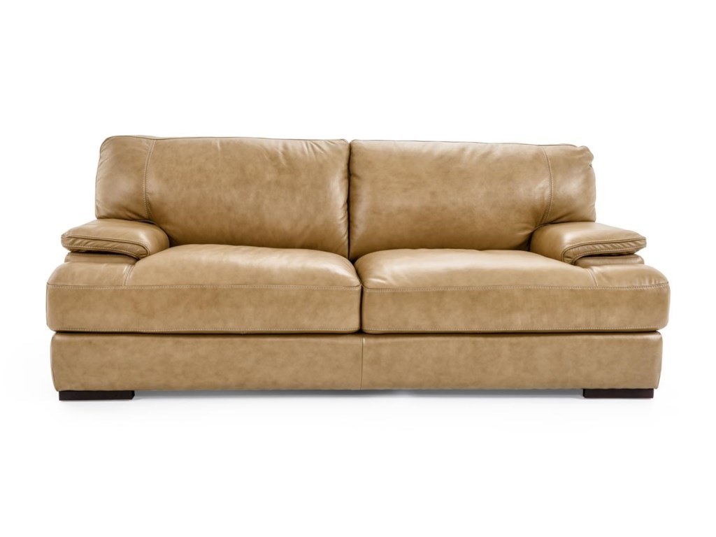 Futura Furniture Leather Sofa Futura Leather Acacia Taupe 1280 Tufted Pillow Top Thesofa