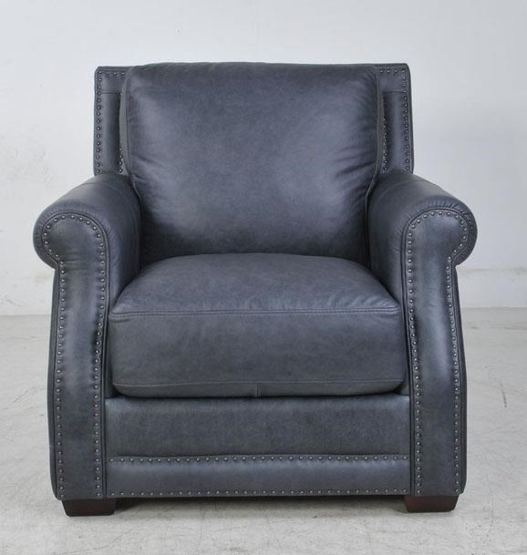 Futura Leather FusionFusion Charcoal Leather Chair ...