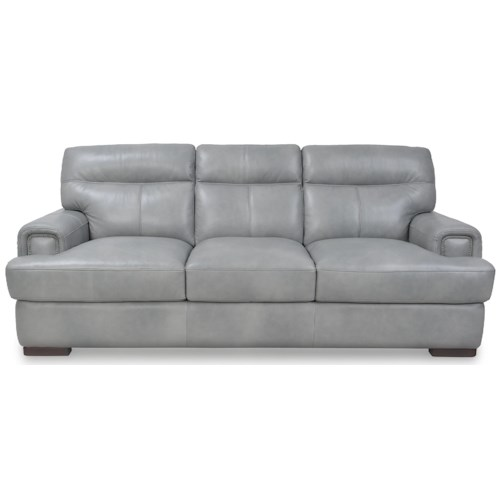 Futura Leather 10040 Contemporary Sofa with Padded Track Arms