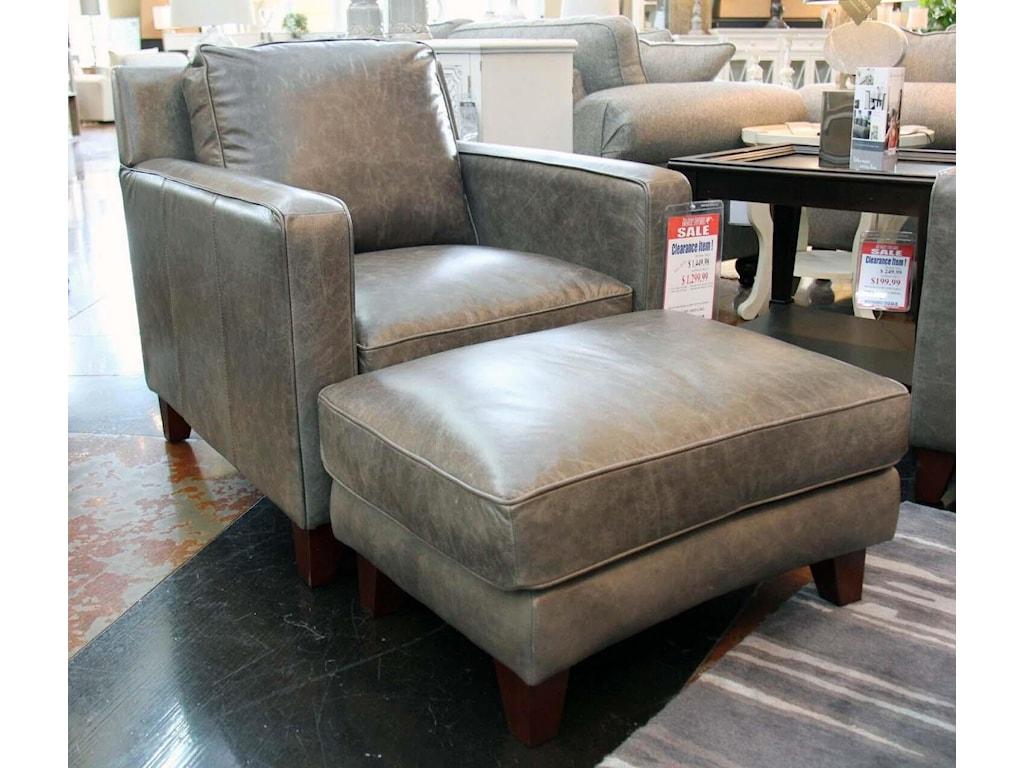 Futura Leather AbileneLeather Chair & Ottoman