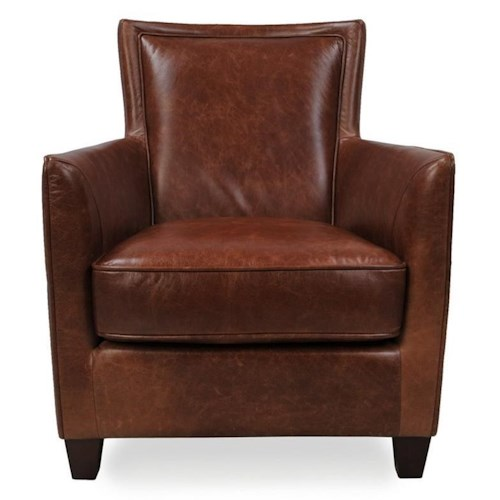 Futura Leather 10064 Casual Chair with Flare Tapered Arms