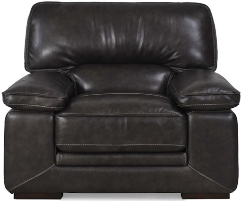 Futura Leather 10105 Chair with Pillow Arms