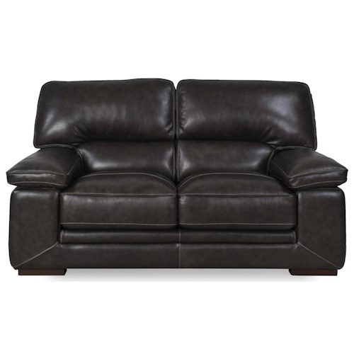 Futura Leather 10105 Casual Loveseat with Pillow Arms