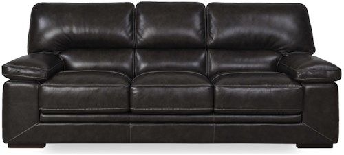 Futura Leather 10105 Casual Sofa with Pillow Arms