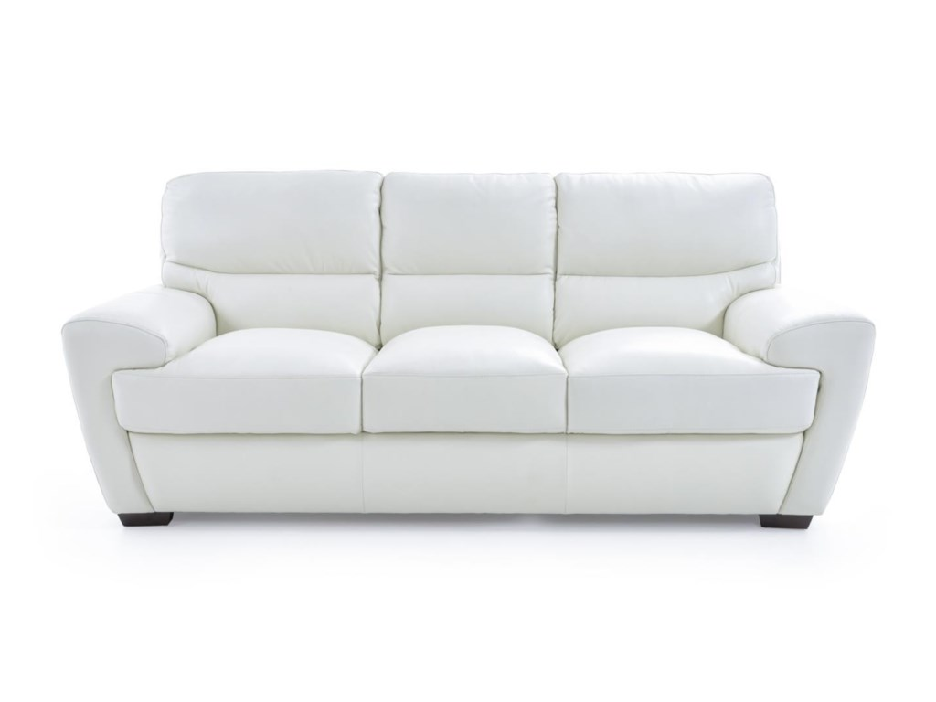 Futura Leather 10131Contemporary Sofa