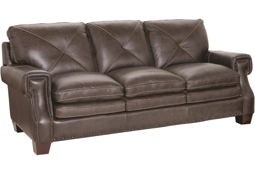 1029 100% Leather Sofa