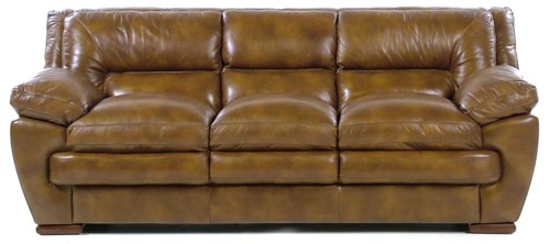 Sofa Loft loft leather carlos contemporary three seater sofa with pillow arms