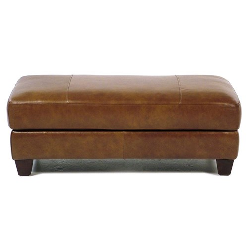 Loft Leather Bryce Storage Cocktail Ottoman