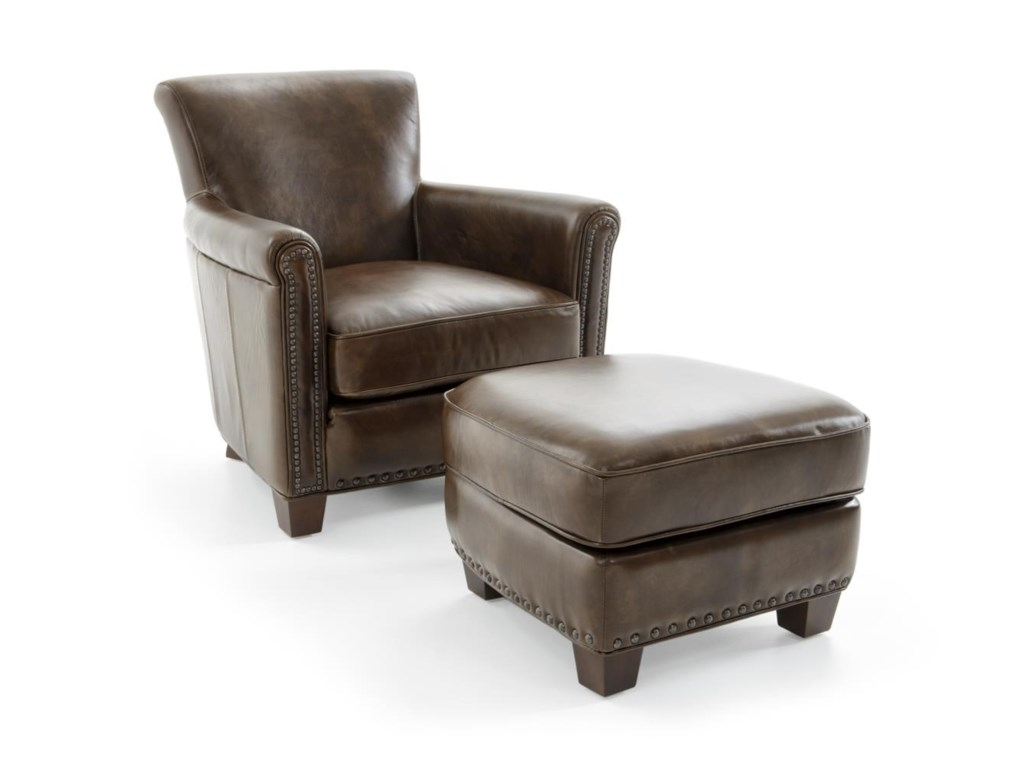 Futura Leather 6307Chair and Ottoman Set