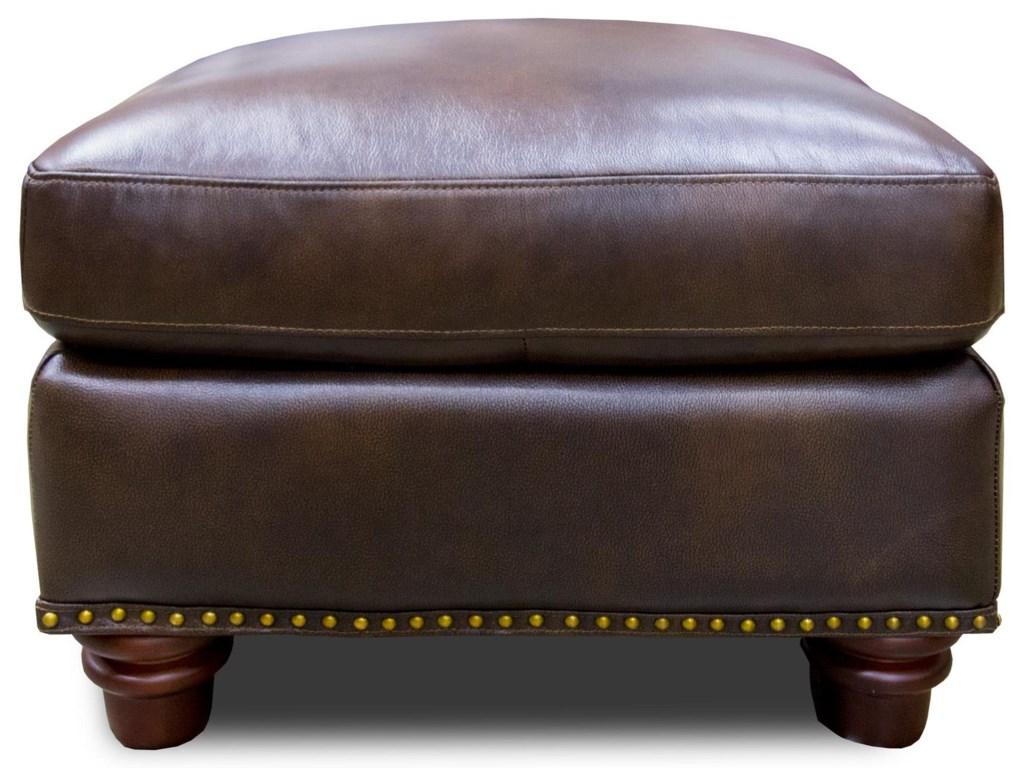 Futura Leather Rancho MountainLeather Ottoman