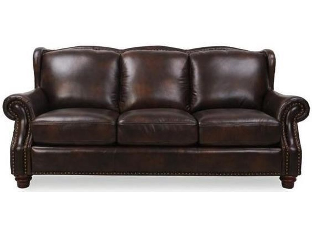 Rancho Mountain Traditional Leather Sofa