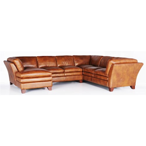 Futura Leather 7203 Three Piece Sectional Sofa
