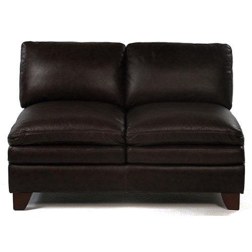 Loft Leather Pacific Armless Loveseat
