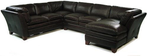 Loft Leather Pacific 3 Piece Sectional w/ RAF Chaise