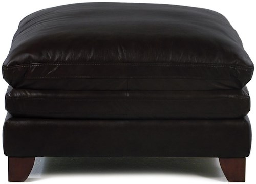 Loft Leather Pacific Square Cocktail Ottoman
