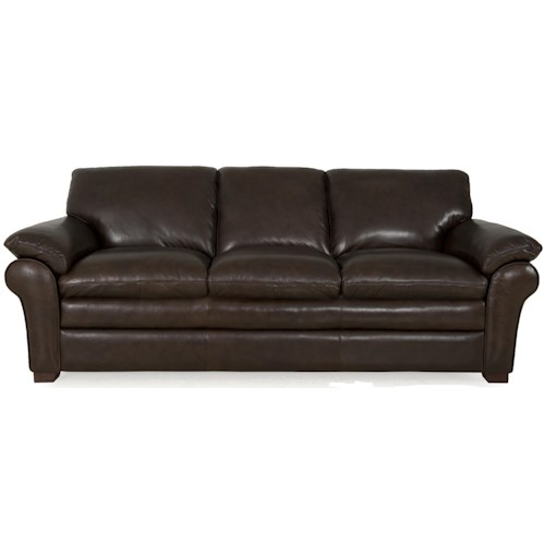 Futura Leather 7439 Contemporary Sofa with Pillow Top Arms