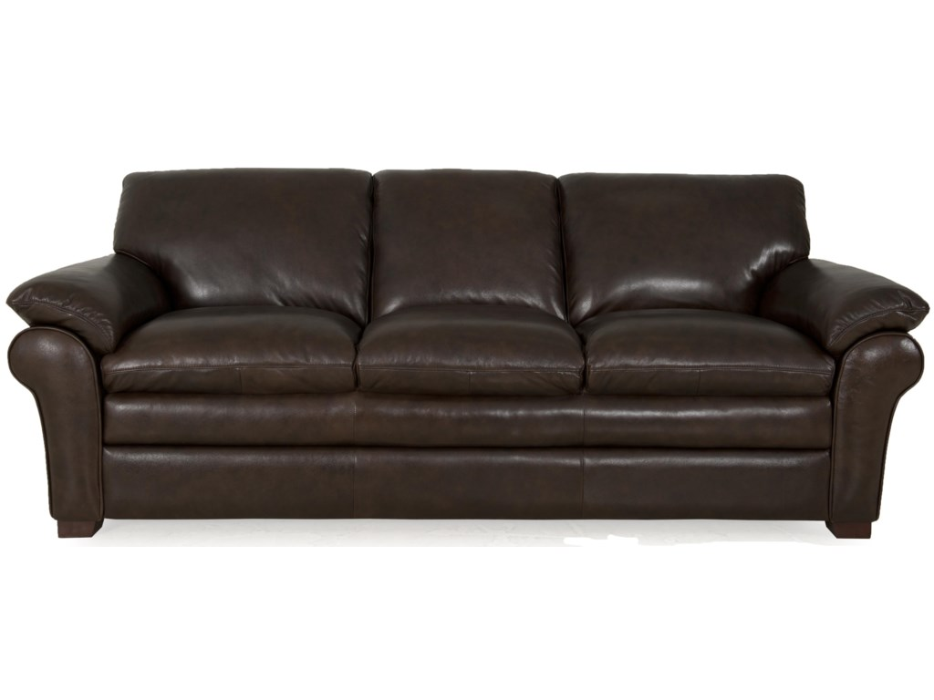 Futura Leather 7439Sofa with Pillow Top Arms