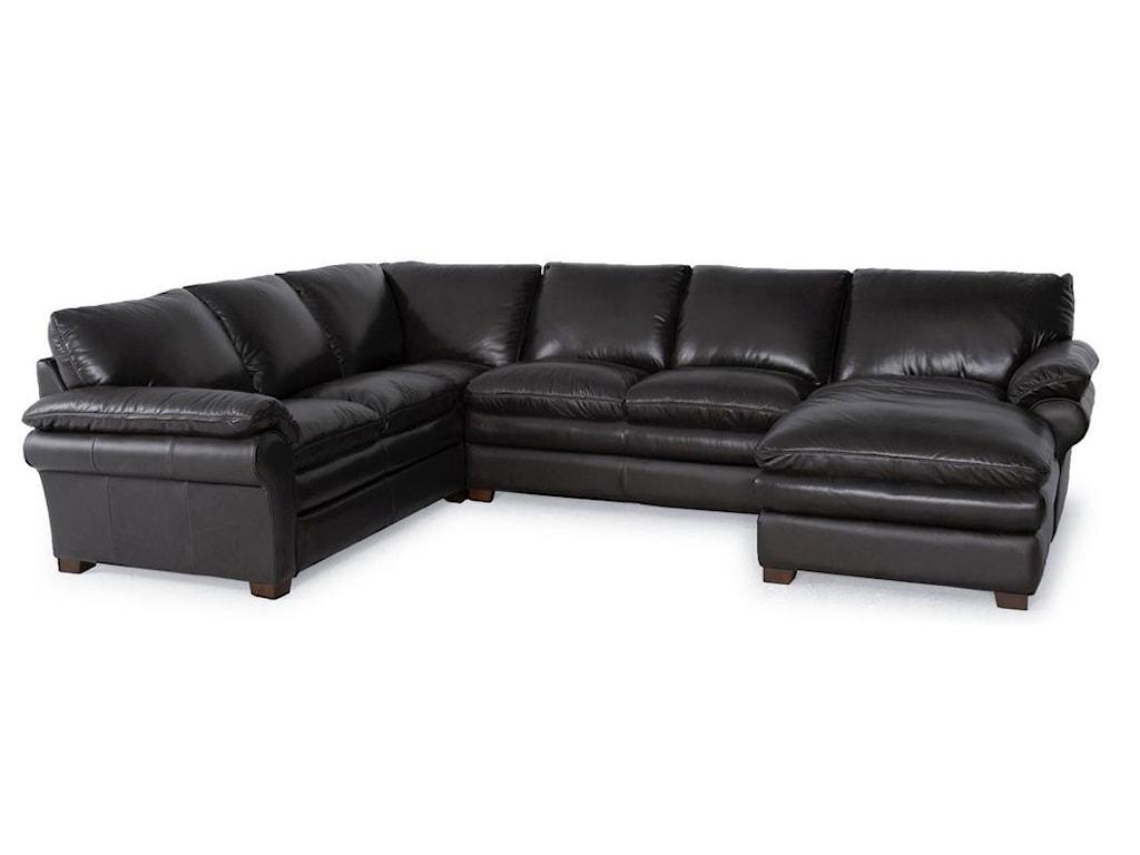 Futura Leather 74393 Pc Sectional Sofa