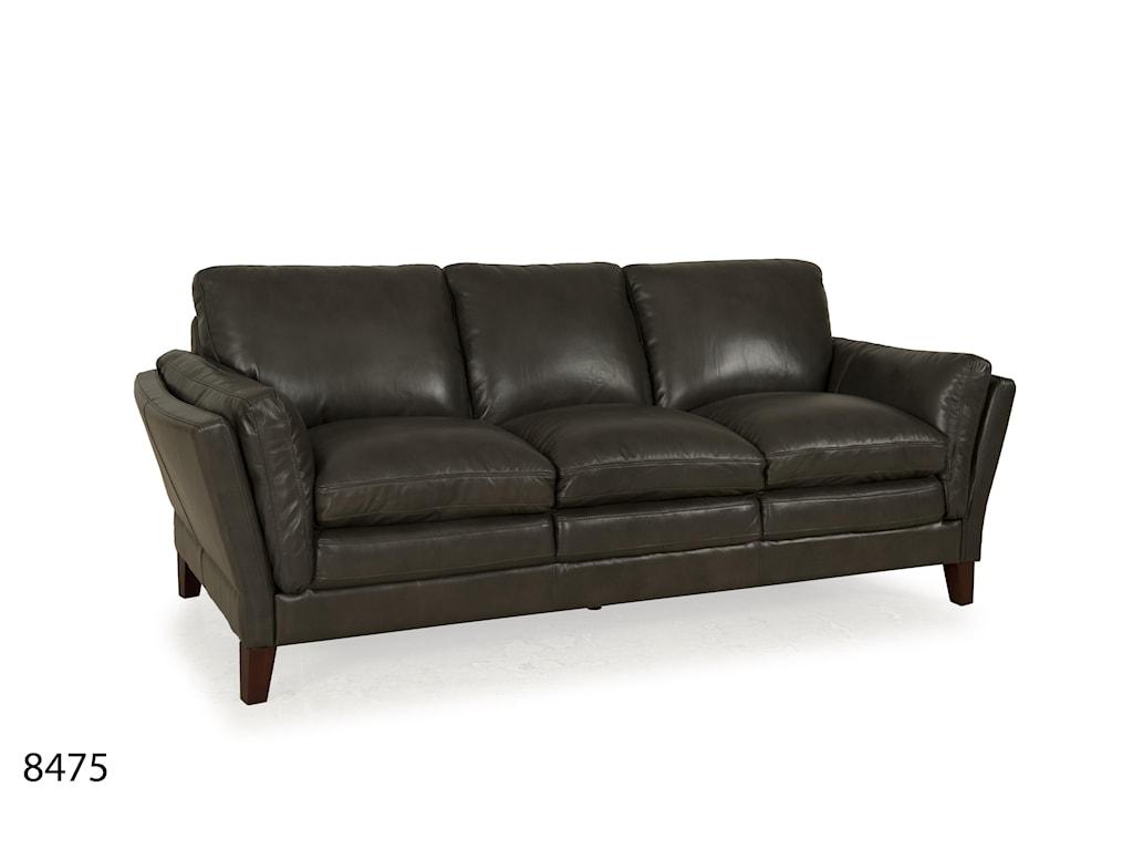 Futura Leather 8475Leather Flared Arm Sofa