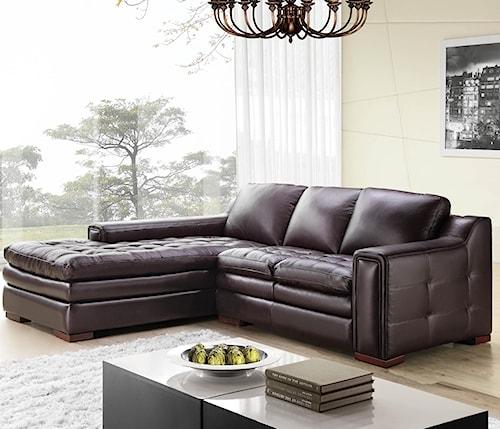 Futura Leather 7491 2 Pce Brahma Sectional