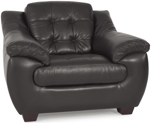 Futura Leather 7745 Quilt Tufted Leather Club Chair
