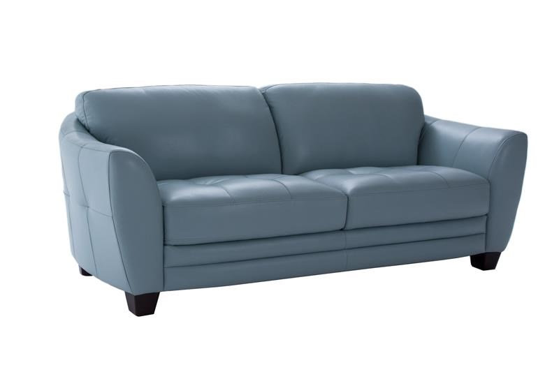 Futura Leather 8511 Stationary Sofa W/ Flared Arms