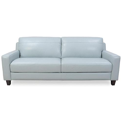 Futura Leather 8689 Contemporary Leather Sofa