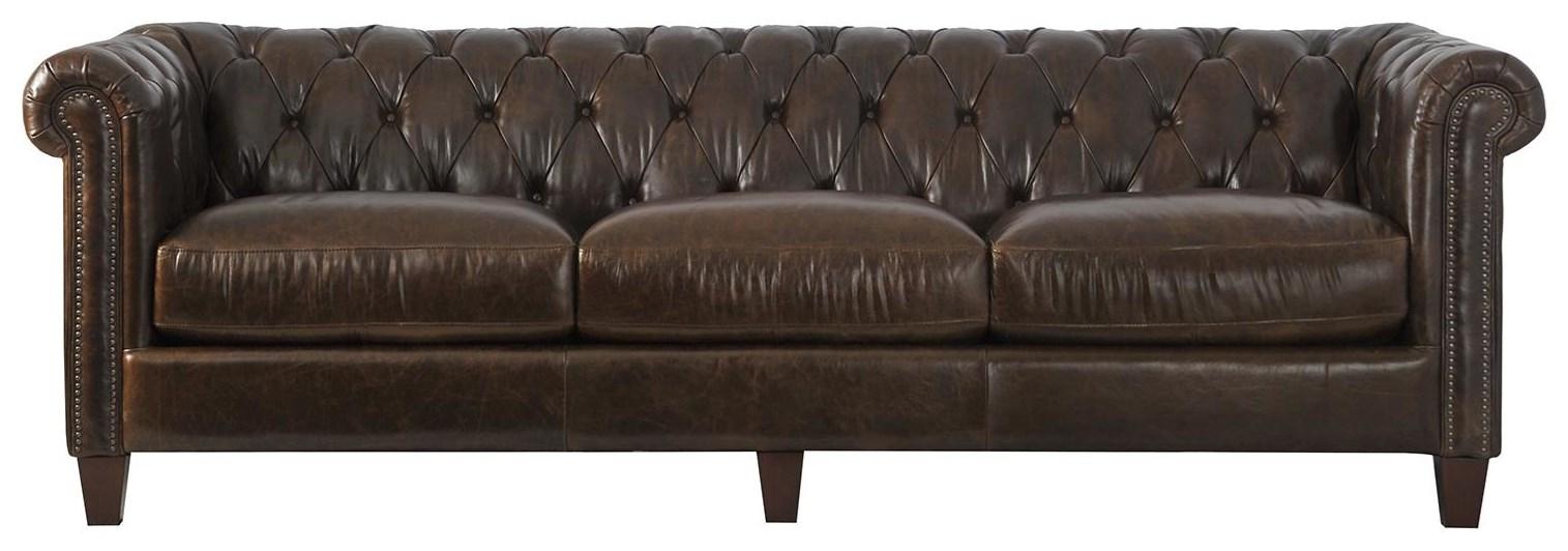 - 8935-40 Leather Sofa Sadler's Home Furnishings Sofas