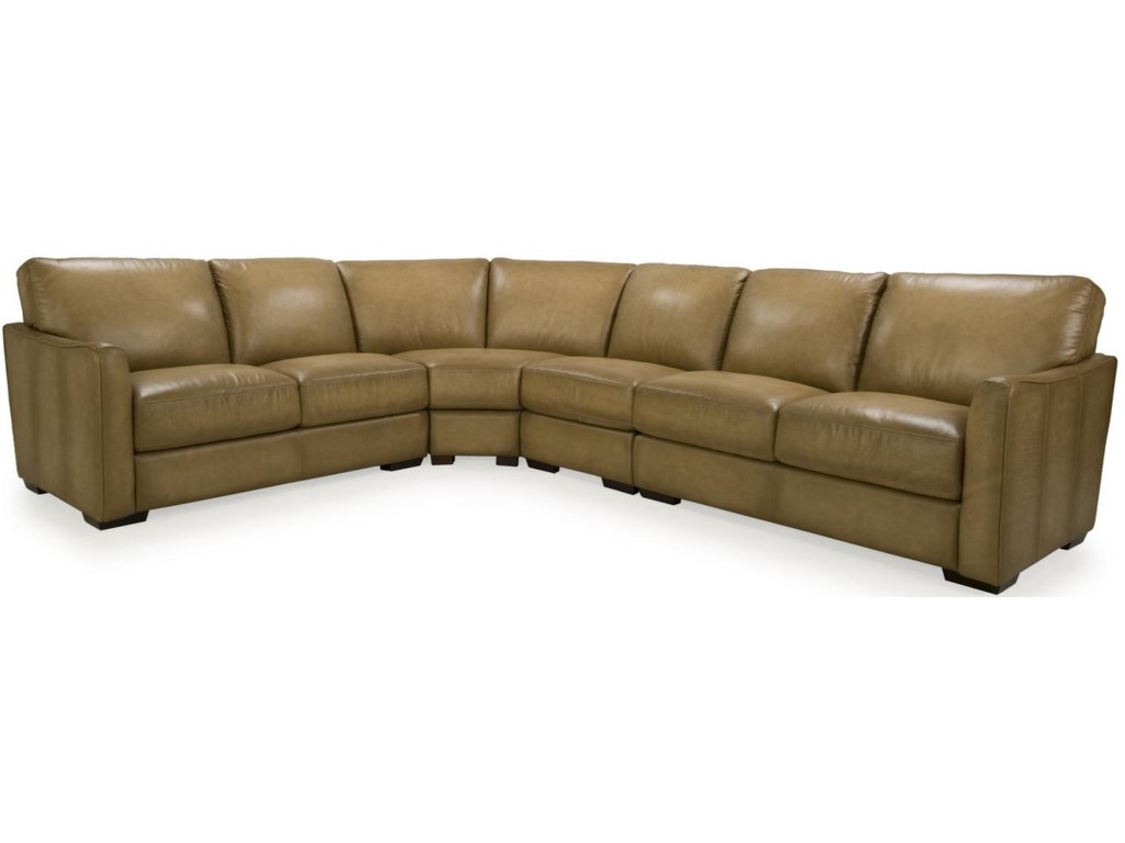 Futura Leather 8944Transitional Sectional