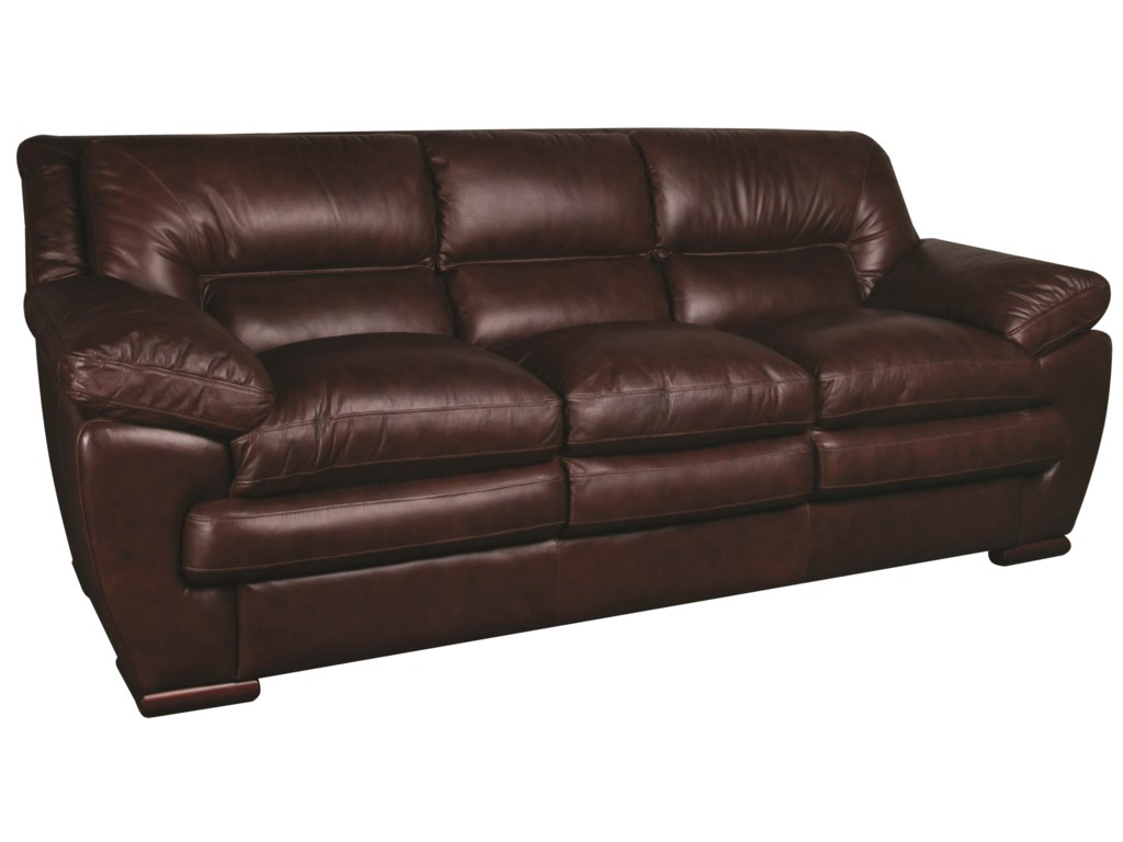 Morris Home Furnishings AustinAustin 100% Leather Sofa