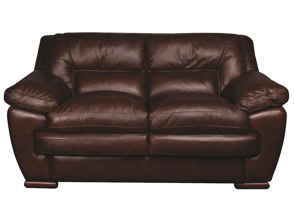 Morris Home Furnishings AustinAustin 100% Leather Loveseat
