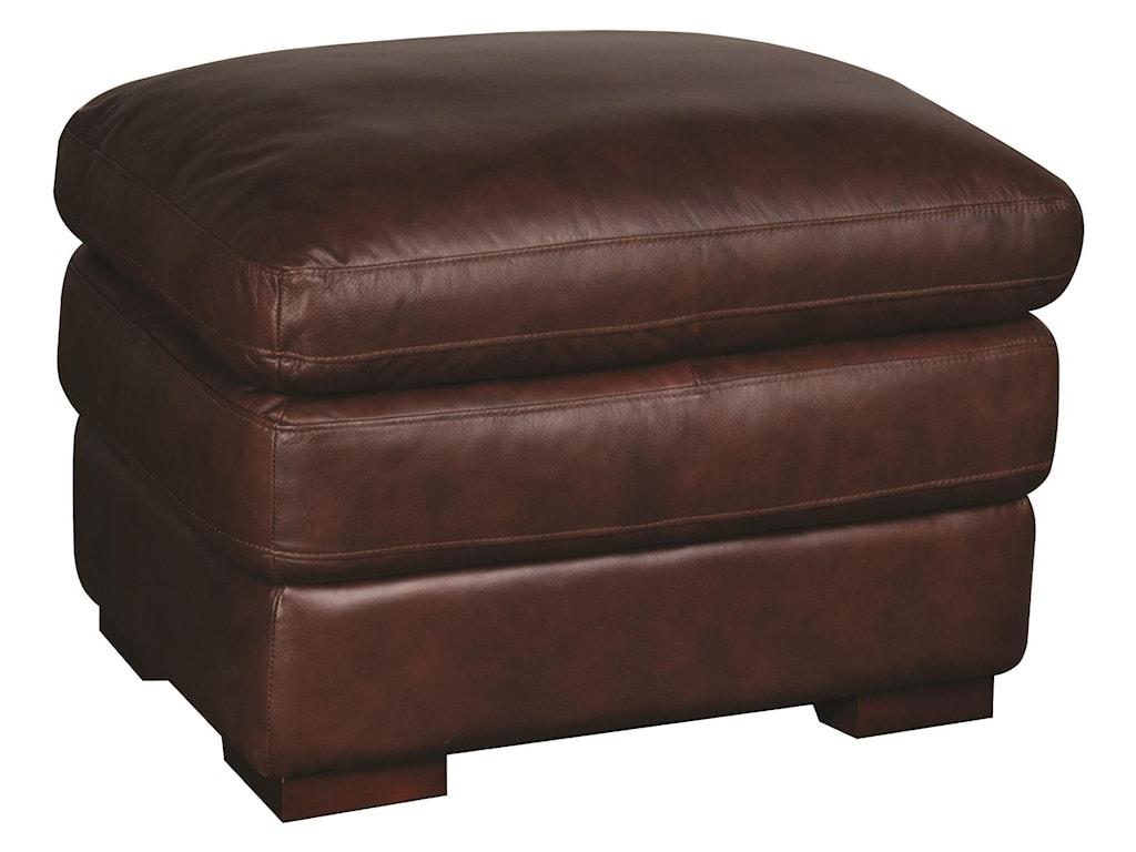 Futura Leather AustinAustin 100% Leather Ottoman