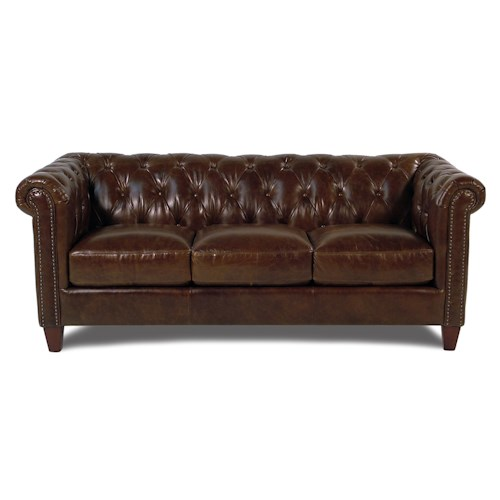 Loft Leather Carrington Tufted Leather Sofa