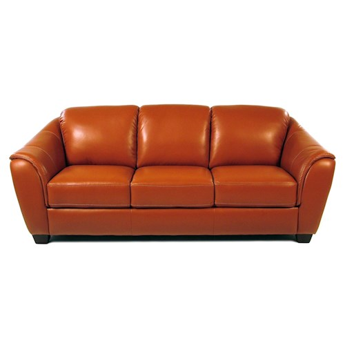 Loft Leather Chilli Pepper Leather Sofa