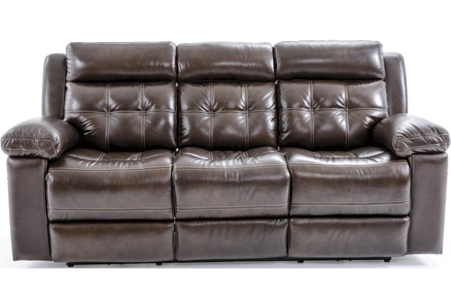 E1267 Electric Motion Sofa with Tufting by Futura Leather at Baer\'s  Furniture