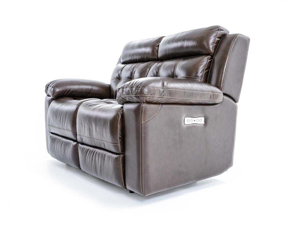 Futura Leather E1267Electric Motion Loveseat