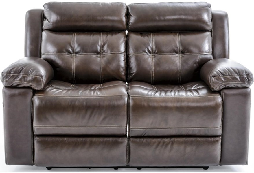 Futura Leather E1267 E1267 318 1148h Casual Electric Motion Loveseat With Tufted Seat Back Baer S Furniture Reclining Love Seats