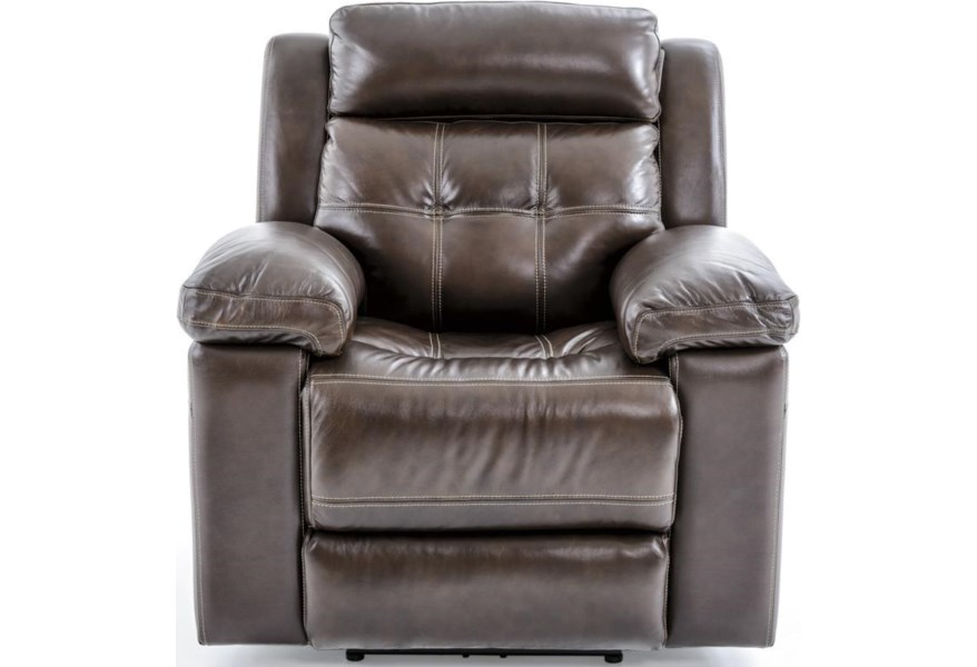 Futura Leather E1267 E1267 319 1148h Casual Electric Recliner With Pillow Arms Baer S Furniture Three Way Recliners