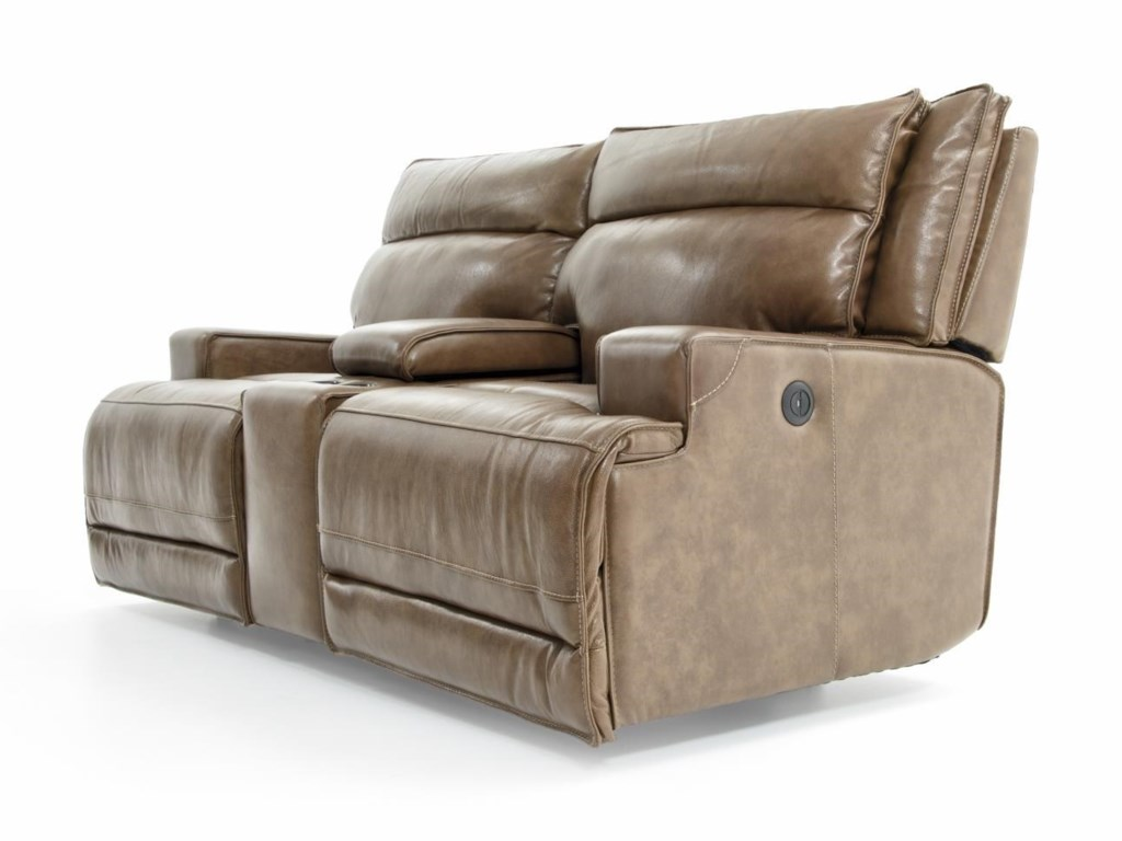 Futura Leather E1270Power Reclining Love w/ Console