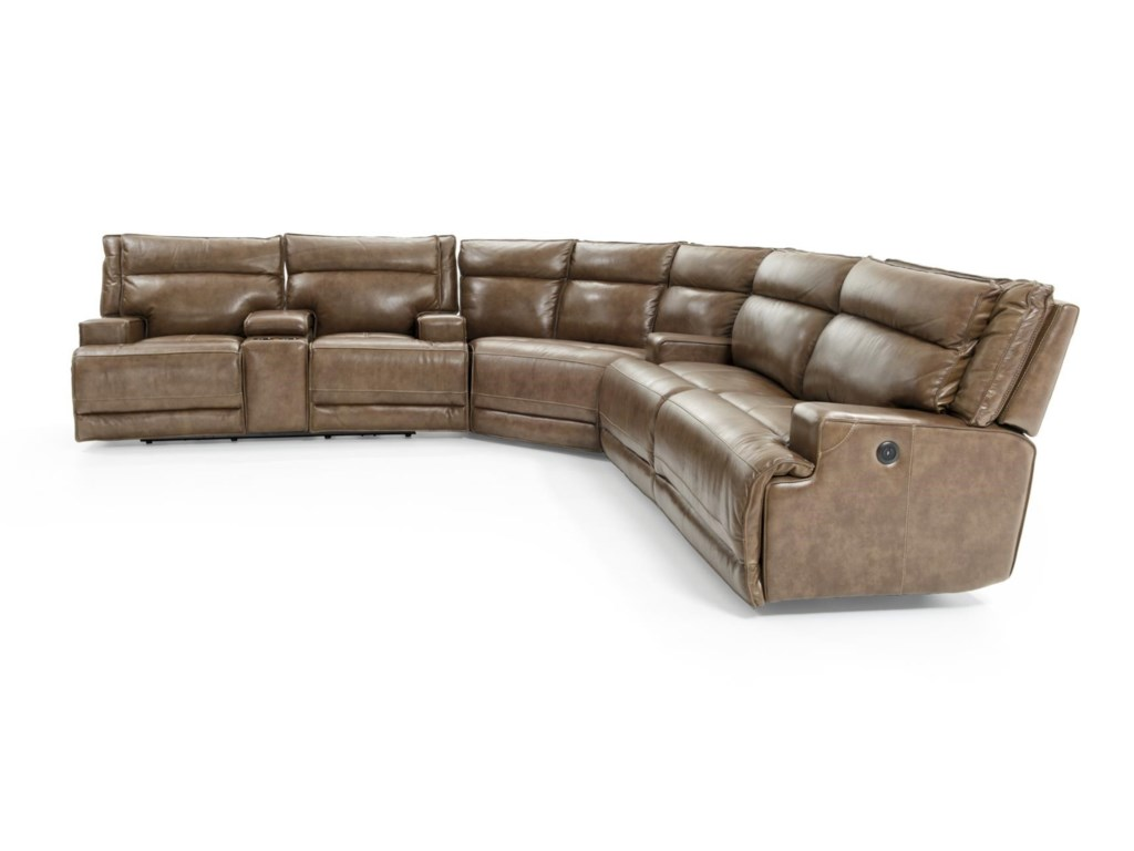 Futura Leather E12703 Pc Power Reclining Sect Sofa