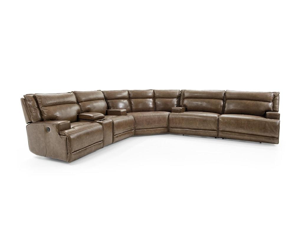 Futura Leather E12703 Pc Reclining Sect Sofa
